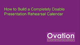 How to Build a Completely Doable Rehearsal Calendar